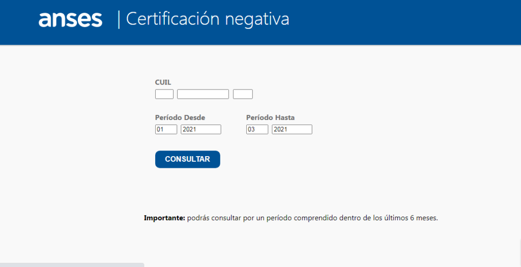 Cómo obtener la Certificación Negativa de la ANSES